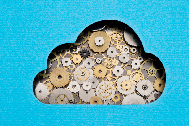 cloud services image with tools inside a cloud