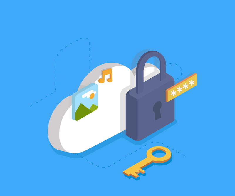 security cloud services lock and key image