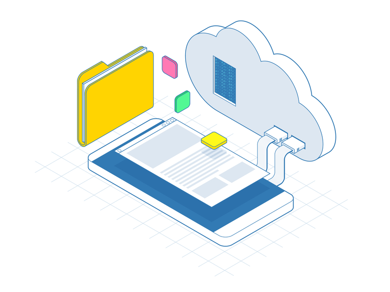 cloud services with folder