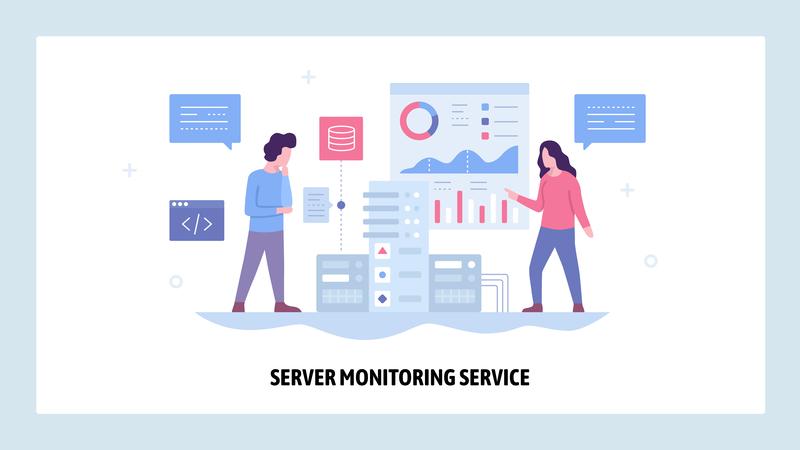 Server monitoring service graphic
