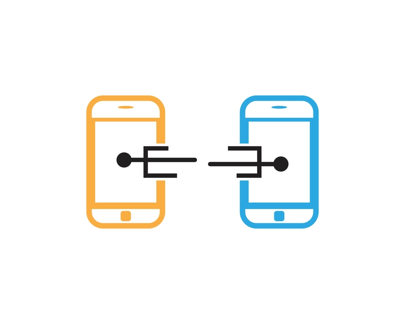 two phones connecting image