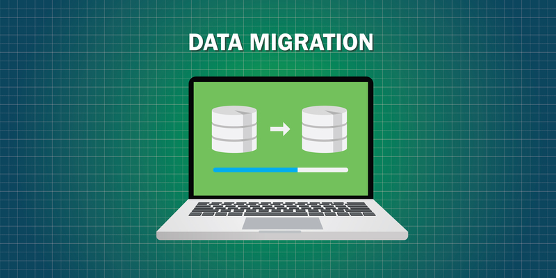 data migration graphic cartoon