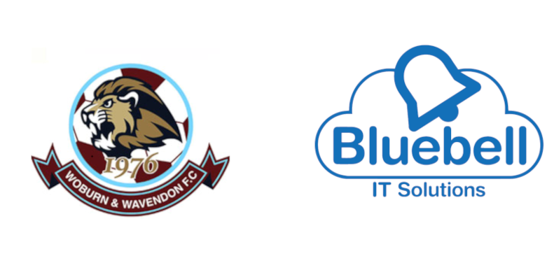 Woburn & Wavendon FC logo & Bluebell IT Solutions Logo