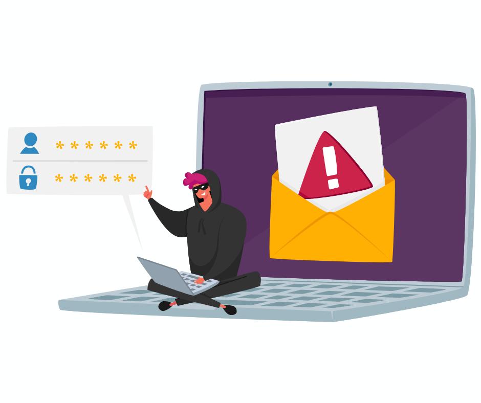 Cybercriminal stealing passwords